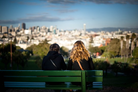 2 people on a Park_Bench